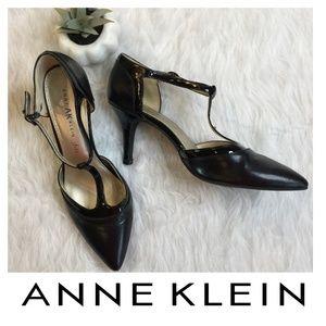 Anne Klein iFlex Black T-Strap Mary Jane Heels